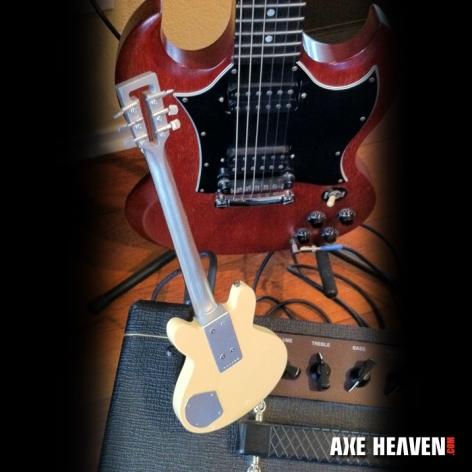 Travis Bean Miniature Jerry Garcia Guitar - Back Detail