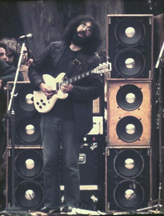 Jerry Garcia playing his Travis Bean Guitar