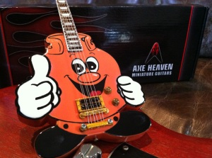Custom Character Promotional Miniature Guitar for Pronto Gas