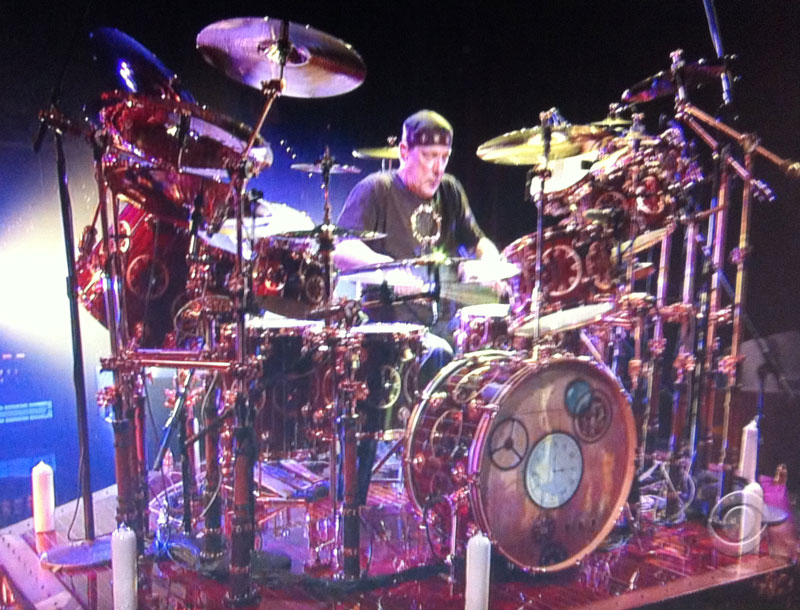 Neil Peart Of RUSH Performs During Drum
