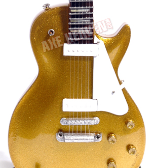 American Icon 1956 Original Gold Finish Miniature Classic Guitar Replica Collectible