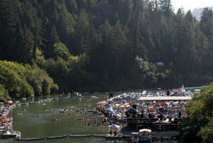 Click for Enlarged Image of Overhead View of Setting for Russian River Jazz and Blues Festival (opens in new window)