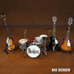 Beatles 'Fab Four' Miniature Guitars & Drum Set Replica Collectibles Kit by AXE HEAVEN®
