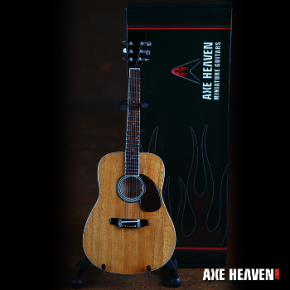Classic Natural Finish Acoustic Miniature Guitar Replica Collectible by AXE HEAVEN®