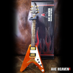 Vintage Classic Natural Finish Flying V Miniature Guitar Replica Collectible by AXE HEAVEN®