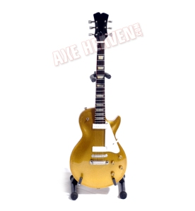 American Icon 1956 Original Gold Finish Miniature Classic Guitar Replica Collectible by AXE HEAVEN®