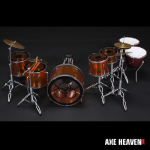 John Bonham Amber Led Zeppelin Drum Set Miniature Replica Collectible by AXE HEAVEN® (opens in new window)