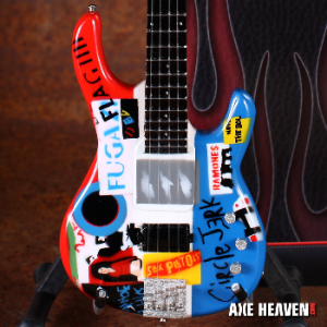 Red Hot Chili Peppers Michael Balzary Psycho Flea Bass Guitar Miniature Replica Collectible by AXE HEAVEN® (opens in new window)