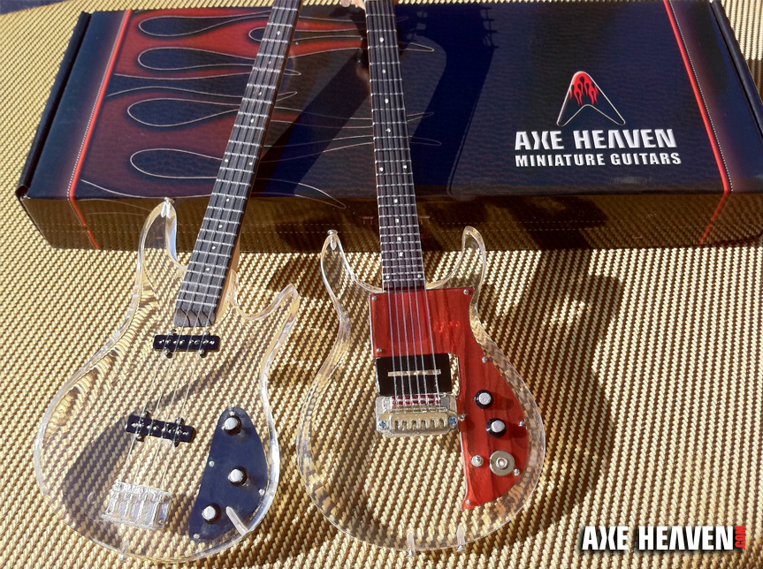 thanks for another awesome year custom clear acrylic miniature guitar and bass plus custom. Black Bedroom Furniture Sets. Home Design Ideas