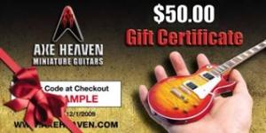 AXE HEAVEN® Gift Certificates (opens in new window)