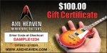 $100 AXE HEAVEN® Gift Certificate