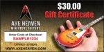 $30 AXE HEAVEN® Gift Certificate