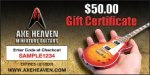 $50 AXE HEAVEN® Gift Certificate