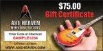 $75 AXE HEAVEN® Gift Certificate