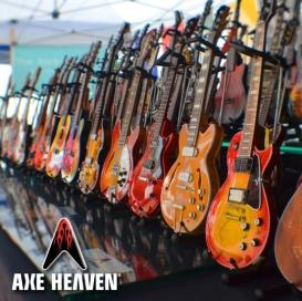 AXE HEAVEN® Miniature Guitars on Display