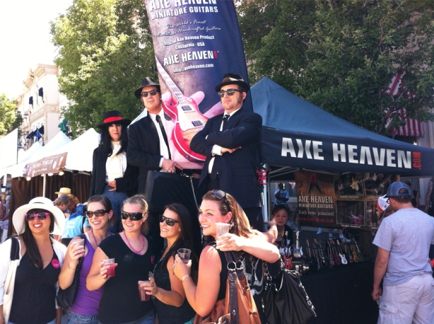 AXE HEAVEN® Minature Guitars get Approval from Joliet, IL Bluesmen Jake & Elwood