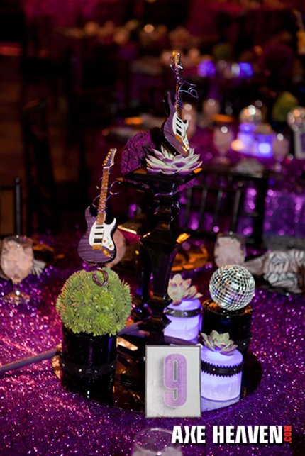 Brad Austin's Event Decor Designs Utilizing Miniature Guitars by AXE HEAVEN®