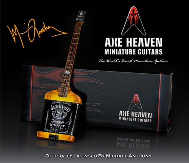 Michael Anthony Jack Daniels Miniature Bass Promotional Guitar and AXE HEAVEN® Package