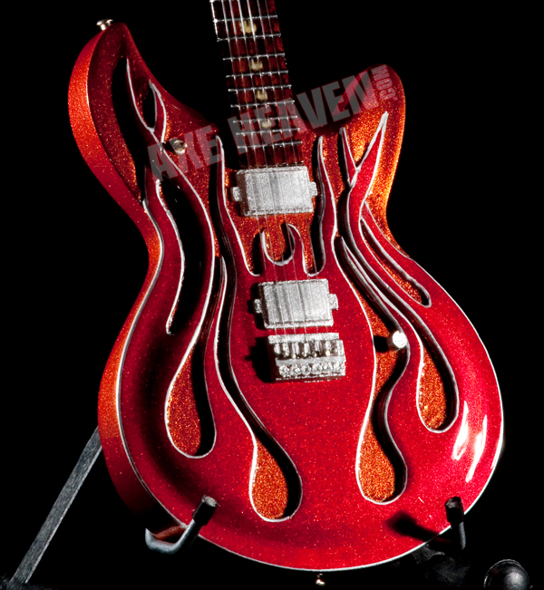 "Click for McSwain ""Flame"" Miniature Guitar Replica Collectible."