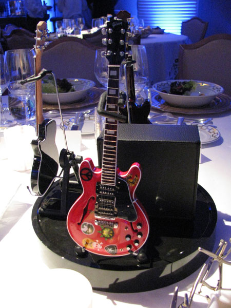 AXE HEAVEN® Miniature Guitars Utilized as Part of the Event Décor at the Pacific Life 2011 National Sales & Conference Award Ceremony