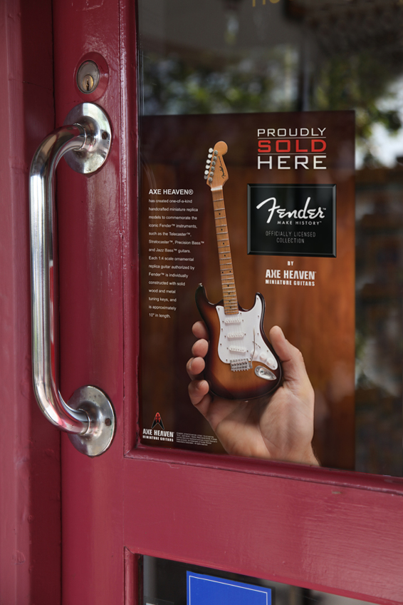 Fender™ by AXE HEAVEN® Collection Storefront Window Cling