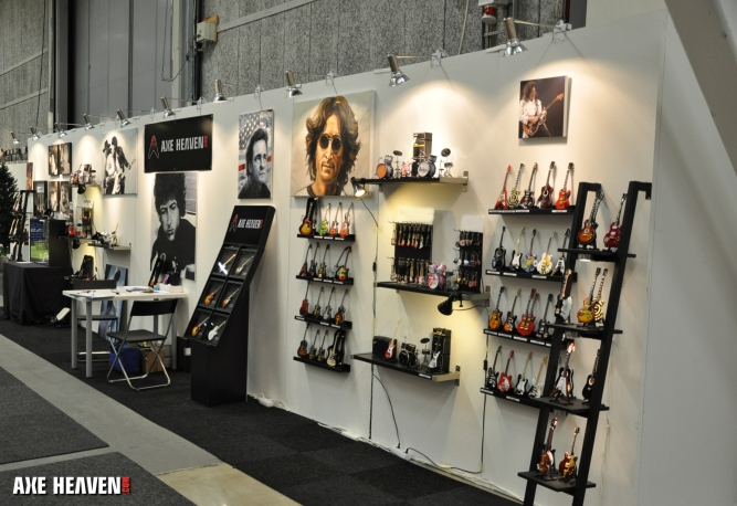 AXE HEAVEN®'s Minature Guitar Trade Show Display