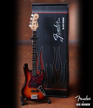 Officially Licensed Miniature Sunburst Fender™ Jazz Bass™ Guitar Replica