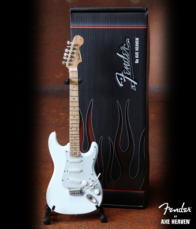 Officially Licensed Miniature Olympic White Fender™ Strat™ Guitar Replica