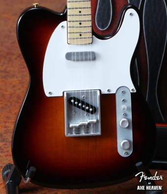 Officially Licensed Miniature Classic Sunburst Fender™ Telecaster™ Guitar Replica