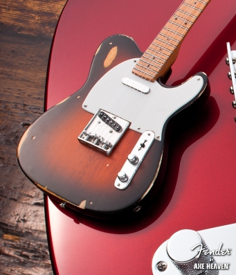 Officially Licensed Mini Sunburst Road Worn™ Fender™ Tele™ Guitar Replica