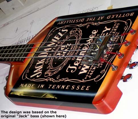 yamaha 2004 custom jack daniel s bass michael anthony axe heaven miniature guitars. Black Bedroom Furniture Sets. Home Design Ideas