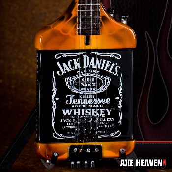"The Jack Daniel's Bass Miniature Replica design was based on Michael Anthony's original ""Jack"" Bass."