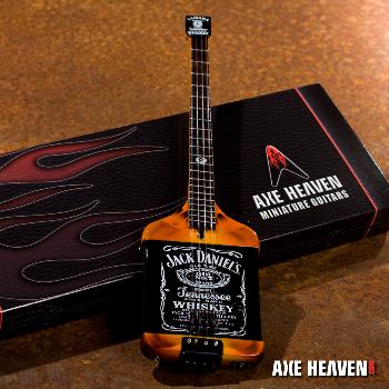 Jack Daniel's Custom Shape Michael Anthony Mini Bass Guitar by AXE HEAVEN®