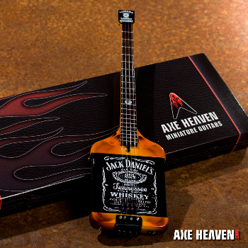 The Jack Daniel's bass is Michael's most famous bass. Introduced on the 1984 Van Halen tour, the original currently resides at the Rock and Roll Hall of Fame.