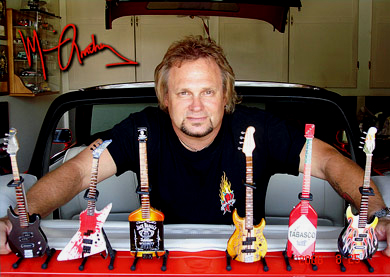 Michael Anthony is an AXE HEAVEN® Exclusives Click to see our full line of unique Mad Anthony miniature guitars, available only on this web site or at Mad Anthony's Cafe. (website opens in new window)
