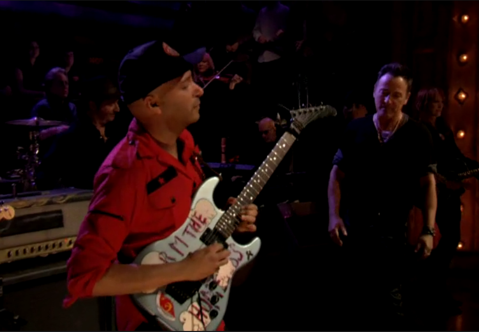 "Tom Morello Joins Bruce Springsteen on ""Jack of All Trades"" from the album ""Wrecking Ball"" (opens in new window)"