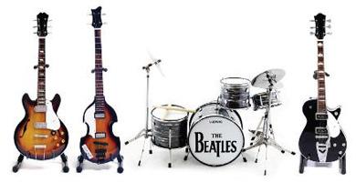 Beatles Guitars Drums 390 Axe Heaven Miniature Guitars