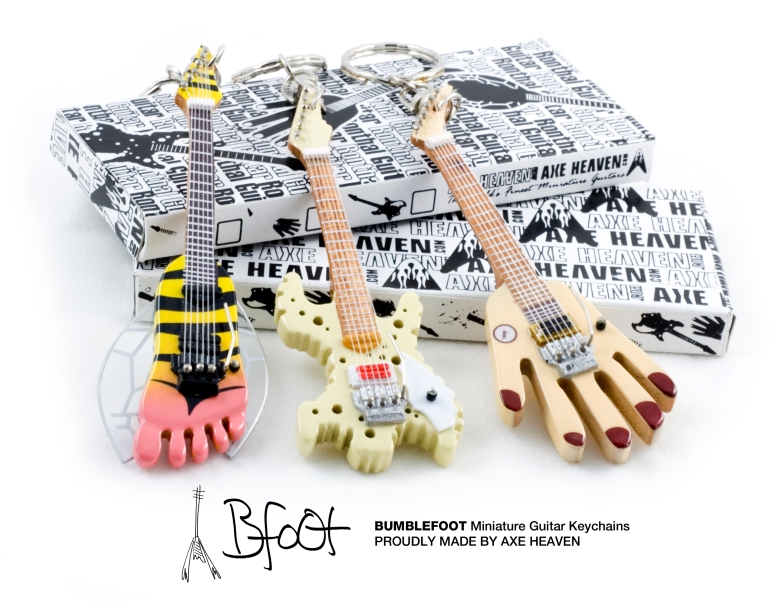 Ron Thal Miniature Guitar Keychains by AXE HEAVEN®