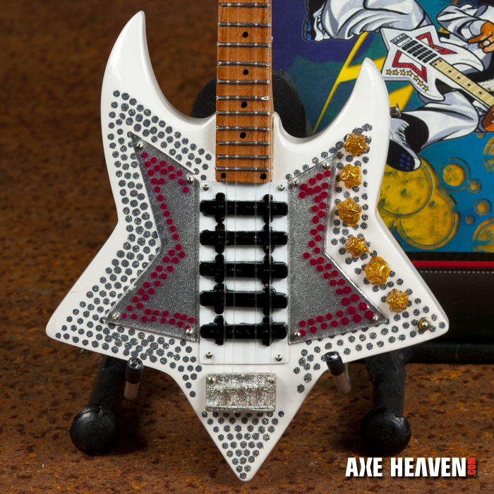 """Bootsy Collins """"Space Bass"""" Mini Guitar by AXE HEAVEN® - Stand Included"""