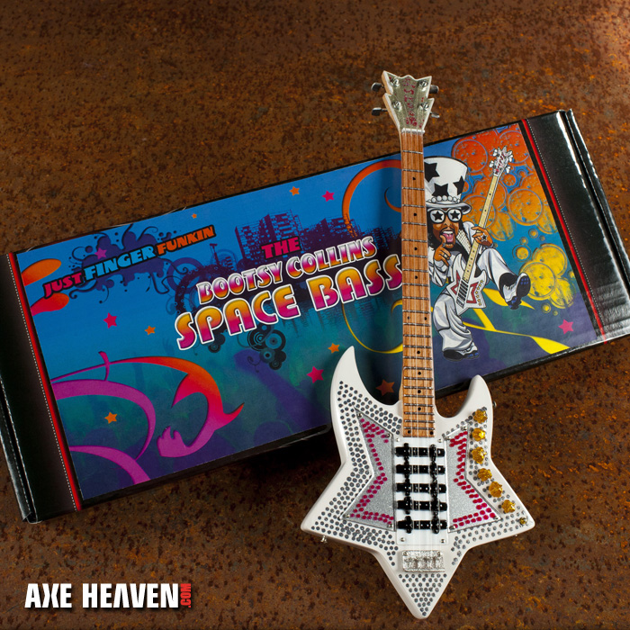 "Bootsy Collins ""Space Bass"" Mini Guitar by AXE HEAVEN® - A Great Gift for Any Fan of Funk!"