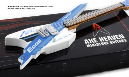 Bosch EDGE Custom-Made Promo Miniature Guitar by AXE HEAVEN®