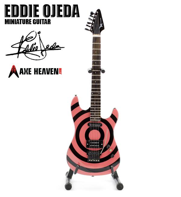 Eddie Ojeda Bullseye Twisted Sister Miniature Guitar