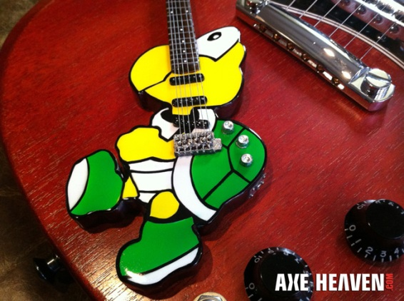 Koopa Troopa Custom Shape Promo Mini Guitar by AXE HEAVEN®