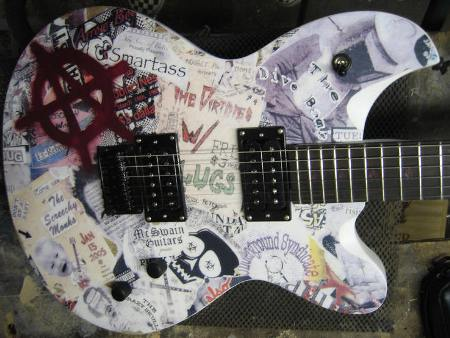 Stephen McSwain's Anarchy Guitar Pays Homage to the Punk Movement