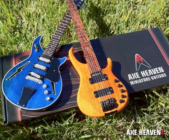 Furthur Custom Promotional Miniature Bob Weir Guitar and Phil Lesh Bass