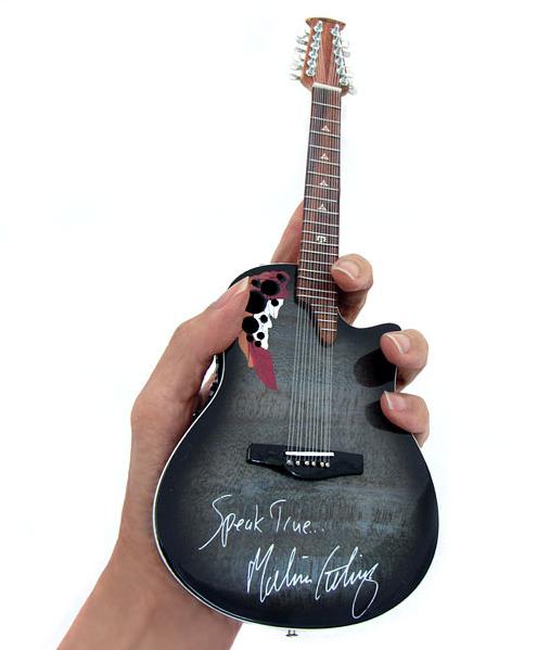 melissa etheridge speak true signature 12 string promo mini guitar axe heaven miniature guitars. Black Bedroom Furniture Sets. Home Design Ideas