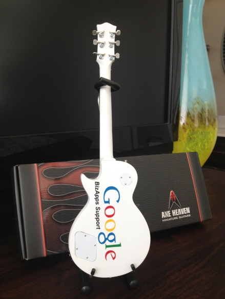 "Google ""YouRock"" Custom Promotional Miniature Guitar by AXE HEAVEN®"