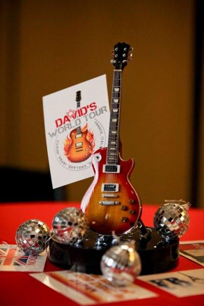 Decoration Theme Guitare : Kim albers event decor design using axe heaven miniature
