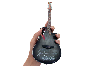 Melissa Etheridge Signature Adamas Ovation Miniature Guitar Replica by AXE HEAVEN®