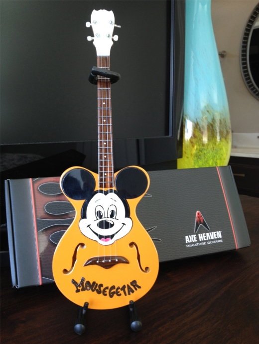 "AXE HEAVEN® Miniature Replica of the Original Mickey Mouse Club ""Mousegetar"""